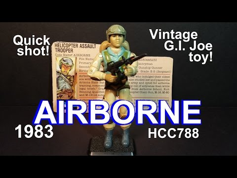 HCC788 Quick Shot! 1983 AIRBORNE! Vintage G. I. Joe toy! HD