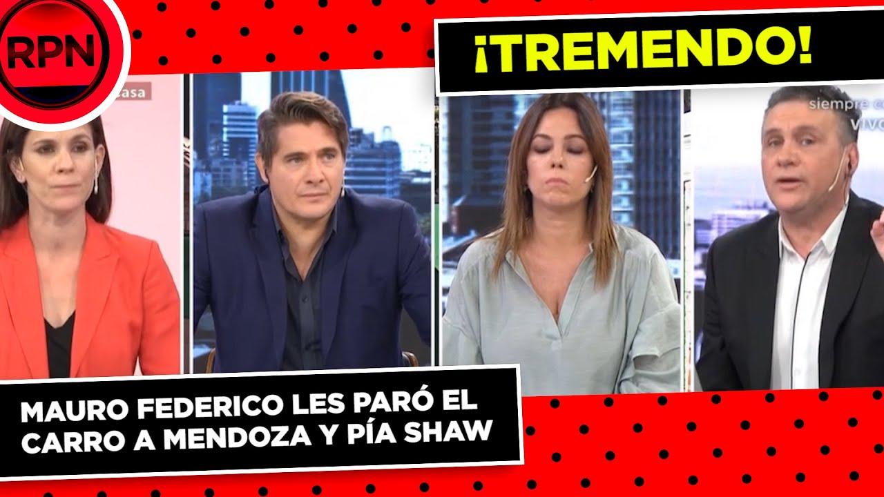 Mauro Federico les paró el carro a Mendoza y Pía Shaw cuando operaban contra Luis D'Elía