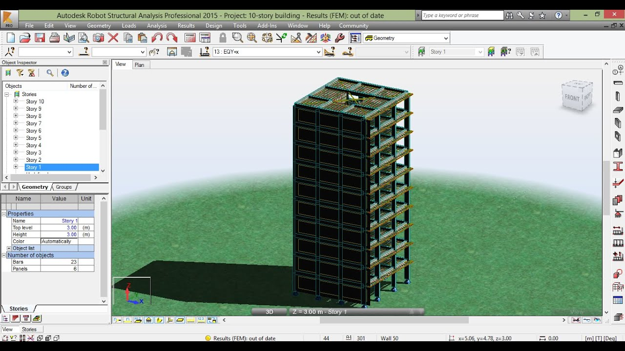 04-2 - Robot Structural Analysis Professional (Wind Simulation& Seismic  loads) by Mohammed Ata