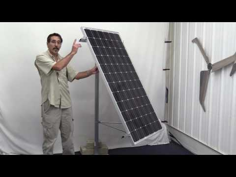 Missouri Wind and Solar's new Larger Side of the pole Solar panel Mount