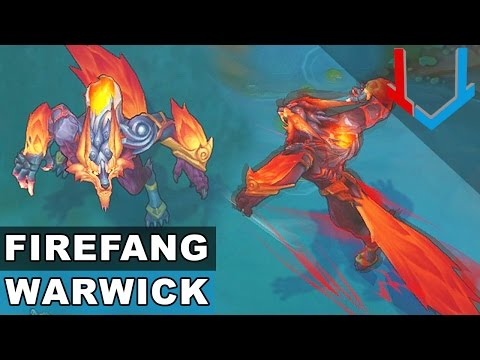 Firefang Warwick - Champion Rework 2017 (League of Legends)