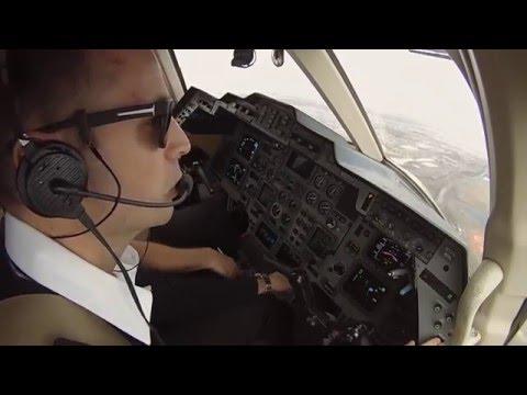 JFK Arrival in a Hawker 800XP