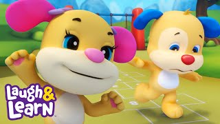 Play Hopscotch   Laugh & Learn™   Cartoons and Kids Songs   Learn ABCs + 123s   Nursery Rhymes  