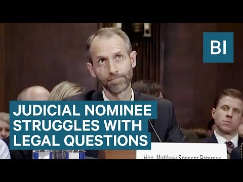 Watch One Of Trump's Judicial Nominees Struggle To Answer Basic Legal Questions