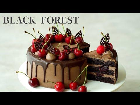 [Eng Sub]체리케이크,블랙포레스트,포레누아/Black Forest/Forêt Noire/Cherry cake/ブラックフォレストケーキ