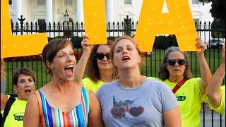Star Spangled Banner protest at the White House, July 19, 2018