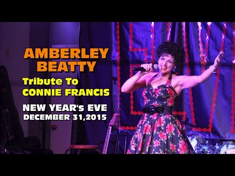 Amberley Beatty Tribute to Connie Francis - New Year's Eve 2015