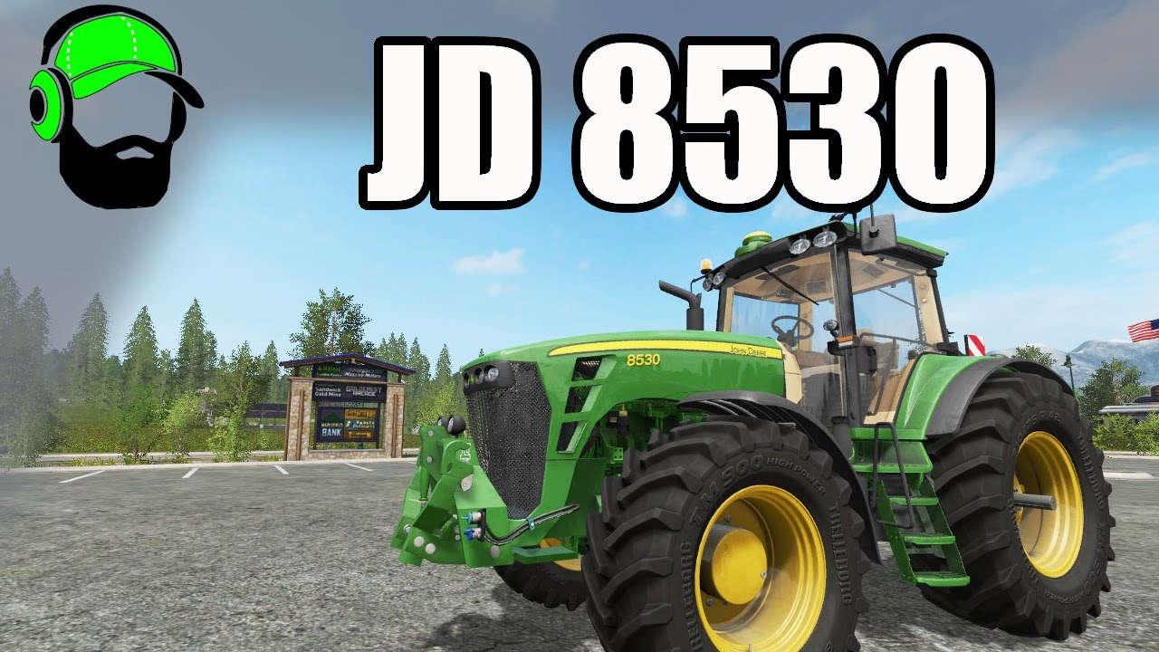 Farming Simulator 17 Mod - John Deere 8530 - YouTube
