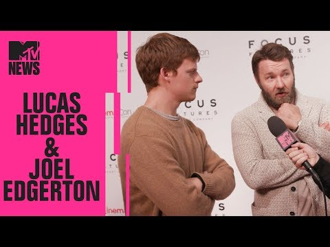 Lucas Hedges & Joel Edgerton on 'Boy Erased'  CinemaCon  MTV