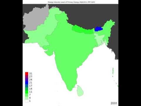 South Asia - Energy Intensity Level Of Primary Energy - Time Lapse