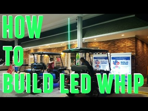 DIY - HOW TO MAKE LED WHIP ANTENNA FOR CHEAP!!!