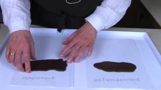 Schokolade temperieren, wie es in keinem Buch steht.