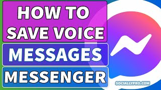 How to Save Voice Messages from Messenger Updated screenshot 2