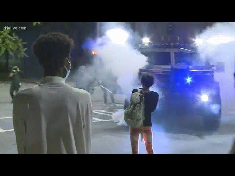 Tear gas deployed in Downtown Atlanta at protest for Breonna Taylor