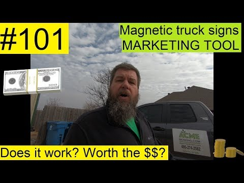 #101 MARKETING With MAGNETIC Signs!  Does It Work? Also...ACME Nets A MILLION DOLLARS! 💲💕✌