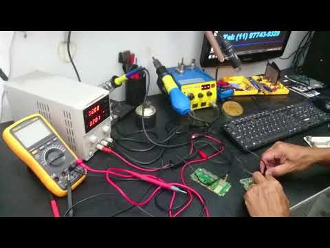 Achando componete em curto com a camera termografica flir tg165