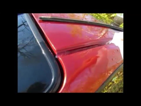 Acura Integra Roof Molding Removal Water Leak Part 5