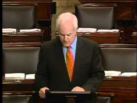 Sen. Cornyn Speaks on the Floor in Support of Judge Diana Saldana 2-8.mpg