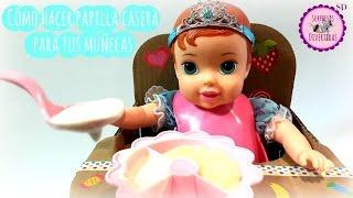 Cómo hacer papilla casera para tus muñecas - 2 fomras MUY FÁCILES y RÁPIDAS con Bebé Ariel