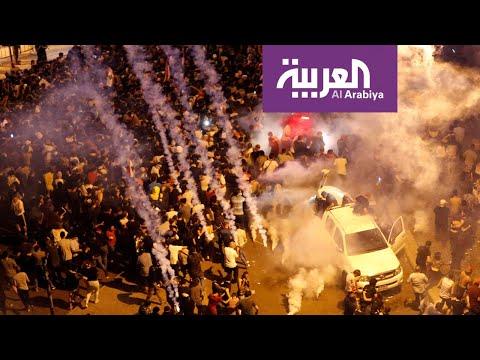 قوات الأمن اللبناني تفرق المتظاهرين وسط بيروت #لبنان_ينتفض  - 19:54-2019 / 10 / 18