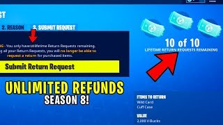 *NEW* HOW TO GET 10 MORE REFUNDS in FORTNITE! (10 EXTRA REFUNDS SEASON 8) 10 Fortnite Refunds