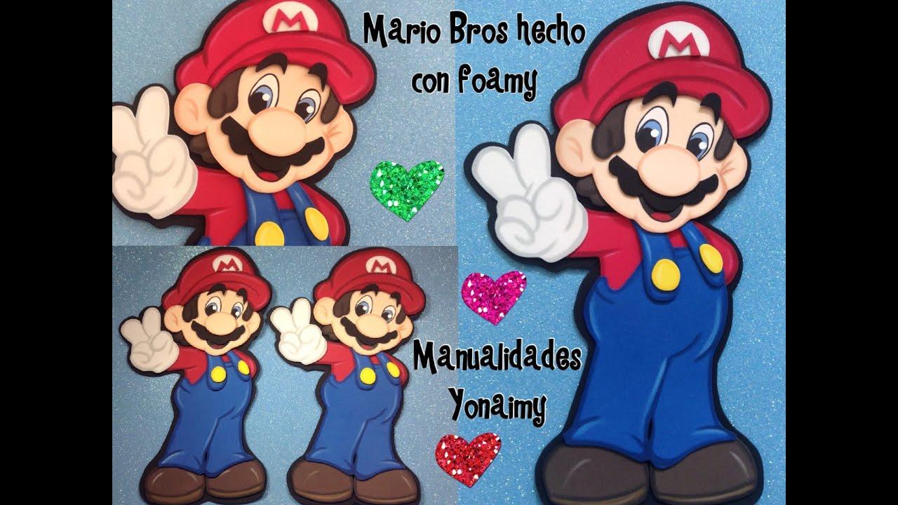 Mario bros hecho con foamy o goma eva parte 1 youtube for Escarapelas en foami