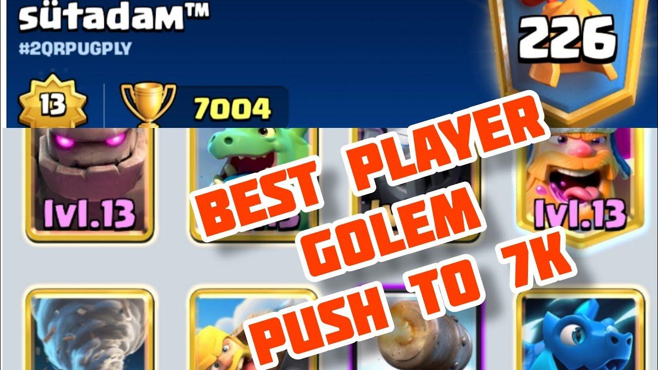 Download best deck golem top leader -CLASHROYALE