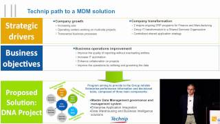 Orchestra networks customer technip presentation at gartner master data management summit in los angeles. may 6, 2011 - part 1/2 multidomain mdm a global ...