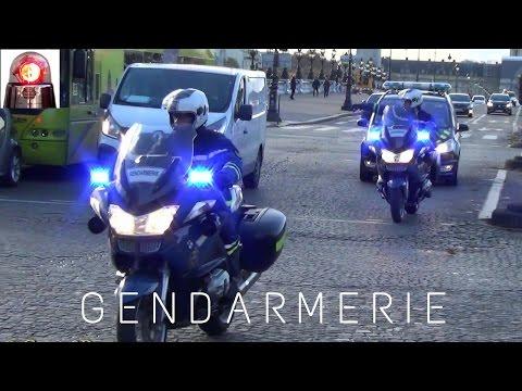 "Gendarmerie Motorcycle Escort ""Voiture Pilote"""
