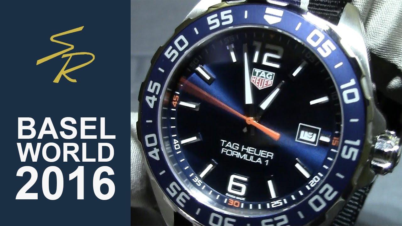 bc83982d1ed8f TAG Heuer FORMULA 1 Quartz Blue Dial Nato Strap Baselworld 2016 ...