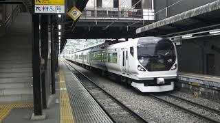 2018.9.1 E257系特急あずさ 塩山駅通過