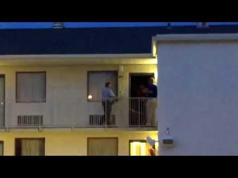 Crime scene investigators work homicide at Motel 6 in Topeka
