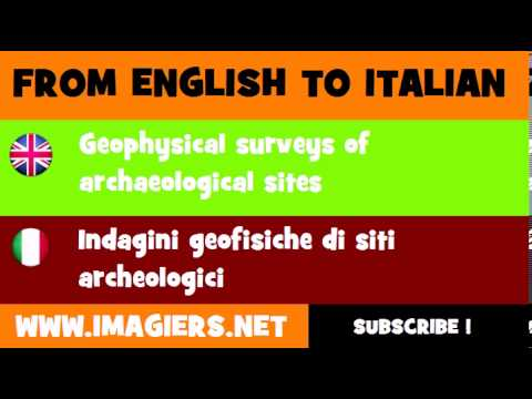 How to say Geophysical surveys of archaeological sites in Italian