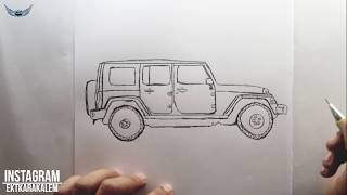 Jip Nasıl Çizilir? Kolay Resim Çizme - Adım Adım Çizim