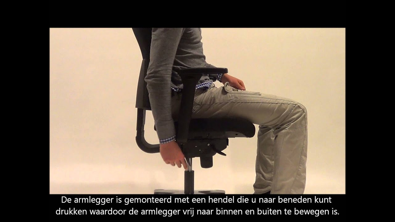 Gebruiksaanwijzing datas bureaustoel ergo luxe youtube for Bureau stoel