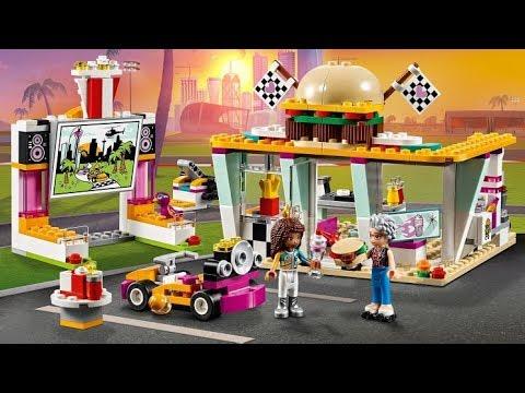 Lego Friends 41349 Go Kart Diner Youtube