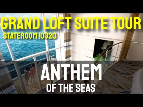 Anthem of the Seas - Grand Loft Suite - Room Tour - 10320 - August 2015