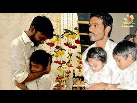 Dhanush celebrates his son Yathra's 10th...