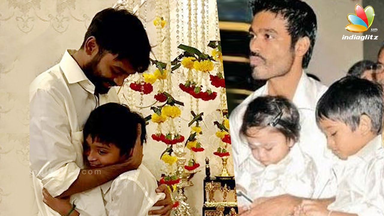 Dhanush celebrates his son Yathras 10th birthday  Latest