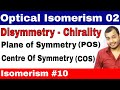 Isomerism 10 || Optical Isomers 02 || Plane of Symmetry and Centre of Symmetry JEE MAINS /NEET ||