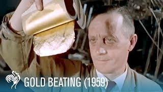 The Art of Gold Beating (1959) | British Pathé