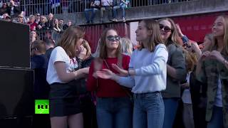 Memorial dance party: People pay tribute to DJ Avicii in Stockholm