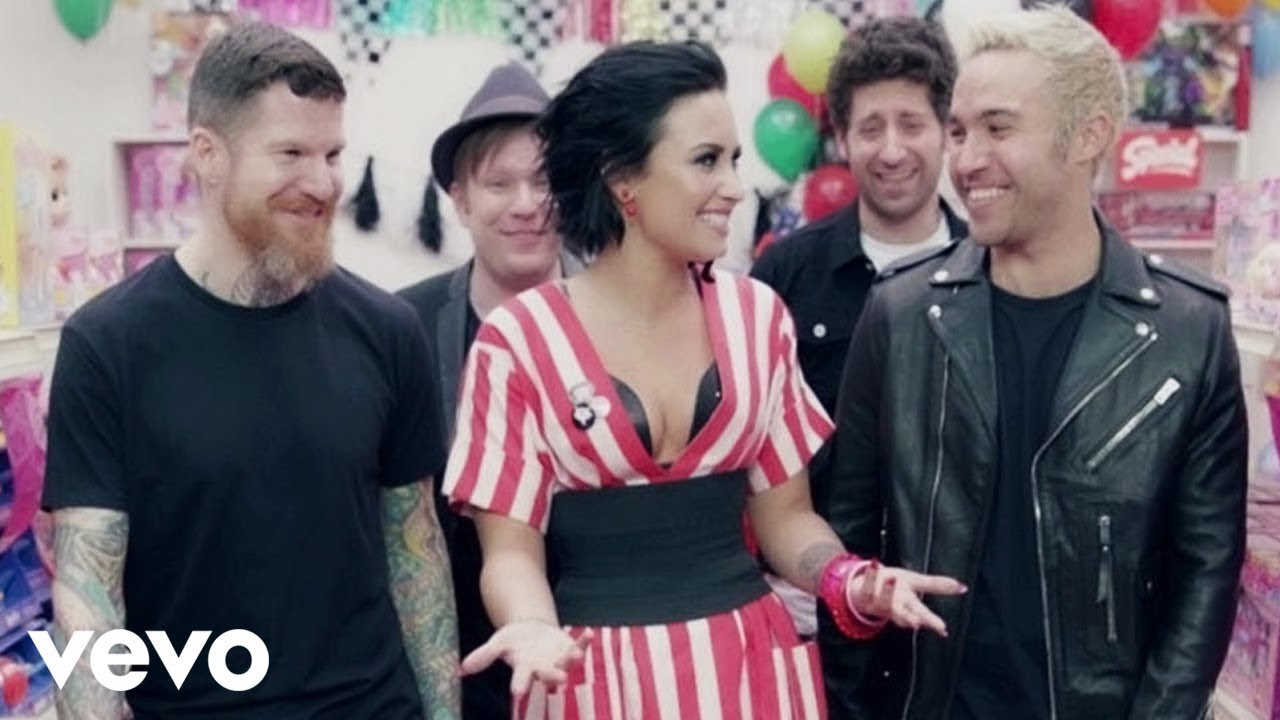 Image result for fall out boy and demi lovato