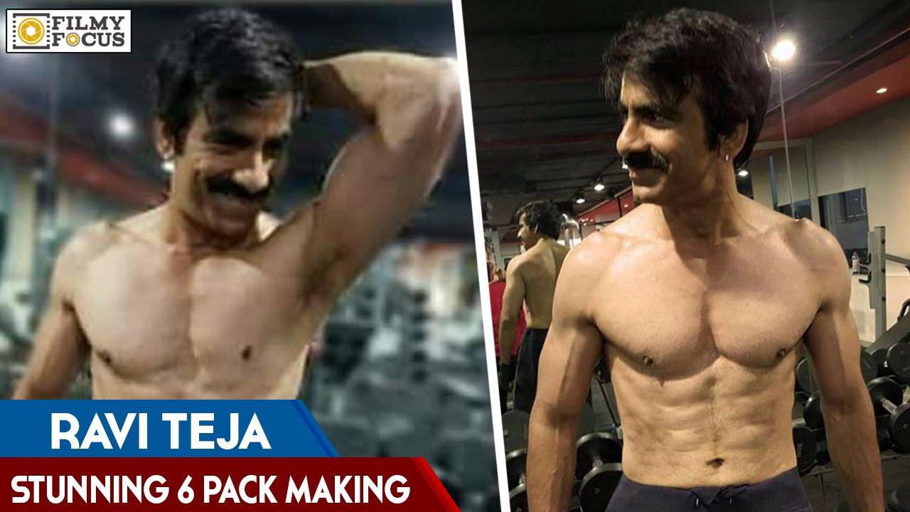 Ravi Tejas stunning six pack body Video - YouTube