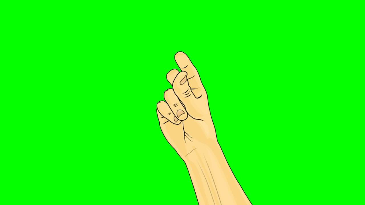 animated finger snap front or palm side view green screen youtube animated finger snap front or palm side view green screen