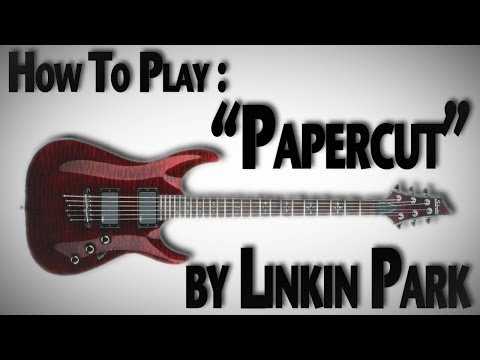 linkin park papercut guitar cover doovi. Black Bedroom Furniture Sets. Home Design Ideas