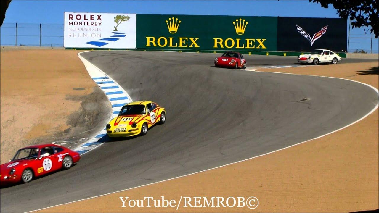 Laguna Seca Raceway >> Vintage Race Porsches Weissach Cup Laguna Seca Corkscrew - YouTube