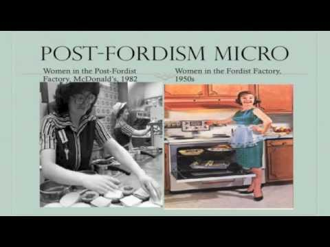 What are the main changes from Fordism to Post Fordism?