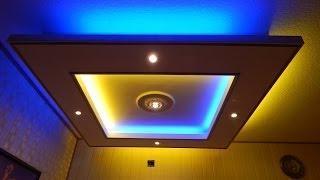 video trockenbau in m nchen akustikdecke mit indirekte beleuchtung. Black Bedroom Furniture Sets. Home Design Ideas