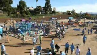 Playground Build Timelapse - Georgia-pacific And Kaboom! In Lakeside, Ca